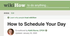 wikiHow, Schedule, time managemennt