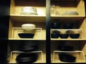 plates, bowls, storage, kitchen