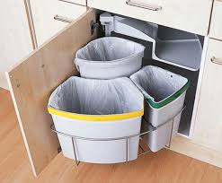 trash cans, kitchen, waste zone