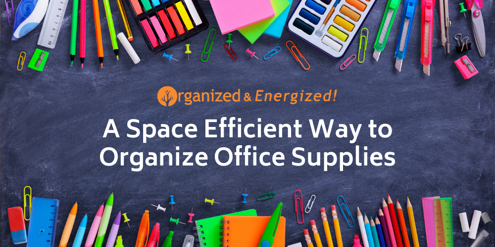 A Space Efficient Way to Organize Office Supplies
